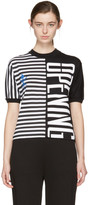 Opening Ceremony Black Striped Stretch Logo T-Shirt