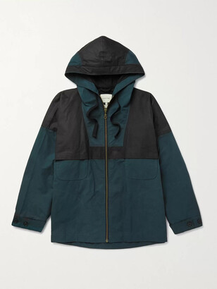 Nicholas Daley Panelled Waxed-Cotton Hooded Parka