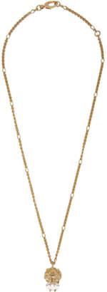 Gucci Gold Lion Head Necklace