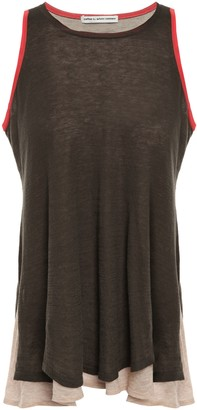 Cotton By Autumn Cashmere Layered Color-block Cotton-jersey Tank
