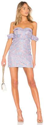 LPA Bustier Dress W/ Ruffle Sleeve