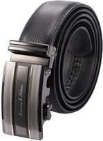 K&S KS Men's Luxury Genuine Leather Belt Sliding Automatic Lock Alloy Buckle KB055