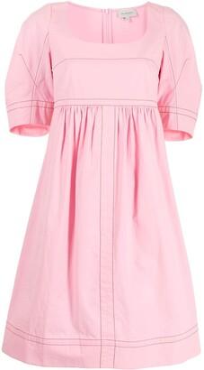Lee Mathews May cocoon-sleeve dress