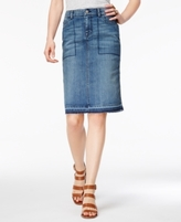 Style&Co. Style & Co Style & Co Petite Release-Hem Denim Pencil Skirt, Created for Macy's