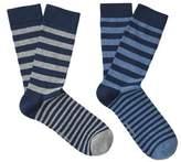MANGO 2 Pack Knee-Length Striped Socks