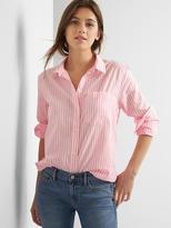 Oversize stripe boyfriend shirt