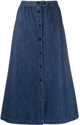 A.P.C. denim A-line skirt