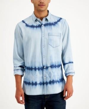 Sun + Stone Men's Denim Dye Shirt, Created for Macy's