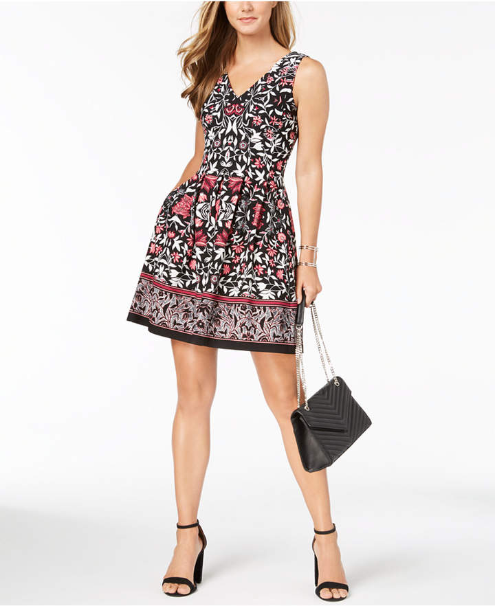 Vince Camuto Printed Fit & Flare Dress