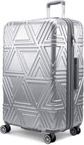 "Badgley Mischka 28"" Silver Contour Upright Spinner"
