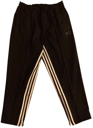 Y-3 Black Trousers for Women