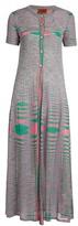 Missoni Faded-stripe ribbed-knit maxi cardigan