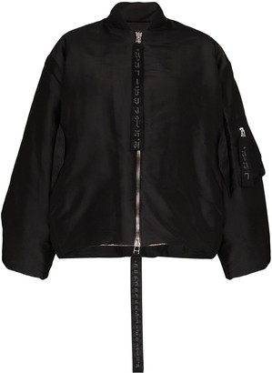 Carcel Queens zip front bomber jacket