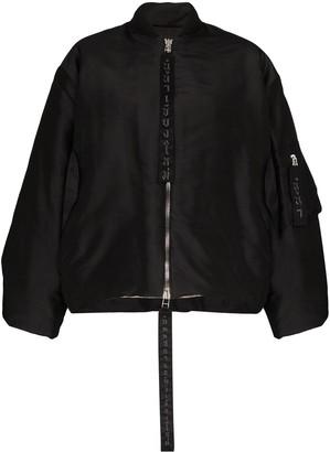 Carcel Queens zip front bomber jacket