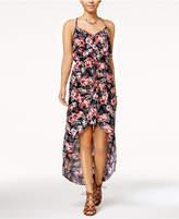 Ultra Flirt Juniors' Cotton Printed High-Low Dress