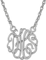 JCPenney FINE JEWELRY Personalized Sterling Silver 15mm Monogram Necklace
