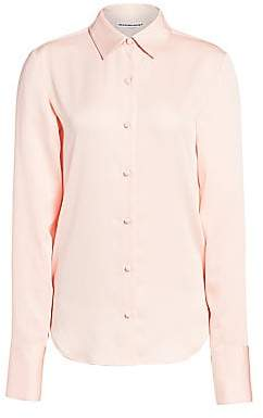 Alexander Wang Women's Wash & Go Button-Up Blouse - Size 0