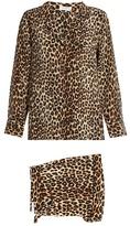 Equipment Lillian leopard-print silk pyjama set