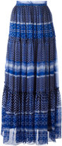 Plein Sud Jeanius pattern pleated skirt