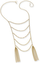 Thalia Sodi Gold-Tone Ladder Tassel Statement Necklace, Created for Macy's