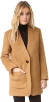 Helmut Lang Shaggy Blazer Coat