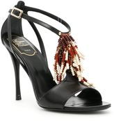 Roger Vivier Multicolor Fringe Sandals