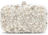 From St Xavier Talon Box Clutch in Ivory.