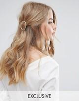 Orelia Textured Open Circle Hair Clip