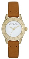 Marc by Marc Jacobs MBM1219 Mini Blade Tan Leather Strap Womens Watch