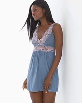 Soma Intimates Lace Sleep Chemise Slate Blue
