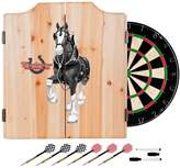 D+art's Trademark Gameroom Budweiser Dart Cabinet Set With Darts and Board