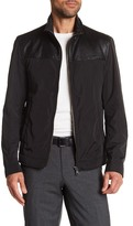 HUGO BOSS Camian Lamb Leather Accent Jacket