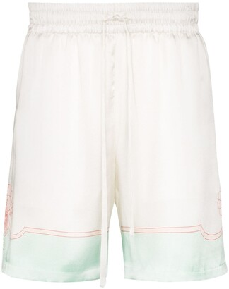 Casablanca Shell-Print Drawstring Shorts