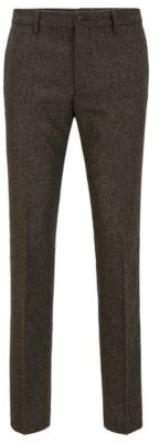 HUGO BOSS Slim-fit trousers in a melange wool blend