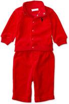 Ralph Lauren Boys' Mock-Neck Jacket & Drawstring Pants Set