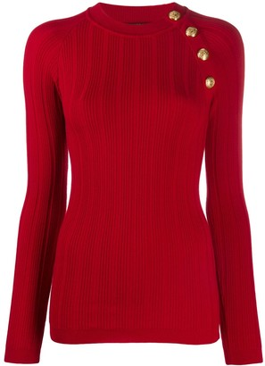 Balmain Button Front Jumper