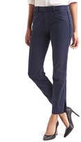 Gap Bi-stretch skinny ankle velvet-trim pants