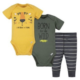 Gerber Baby Boys Onesies Bodysuits and Pants Set, 3-Piece