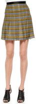 Ohne Titel Striped Pleated Silk Skirt