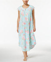 Charter Club Lace-Trimmed Printed Cotton Nightgown, Only at Macy's