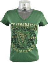 Guinness Ladies Luck of the Irish V-Neck T-Shirt