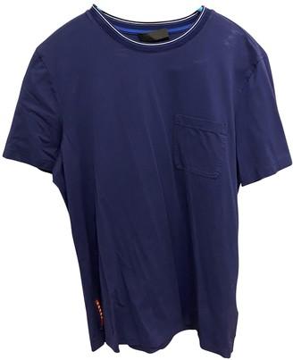 Prada Blue Cotton T-shirts