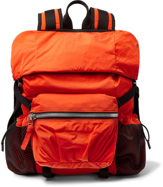 Bottega Veneta Webbing-Trimmed Shell Backpack - Men - Orange