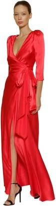 Maria Lucia Hohan Gizeh Silk Satin Long Dress