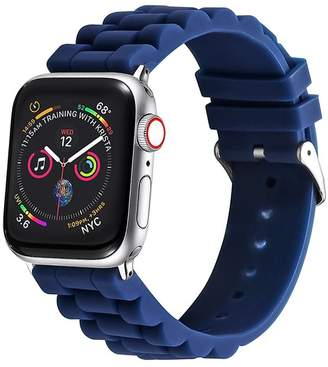 POSH TECH Blue Silicone Link Apple Watch 1/2/3/4 Band