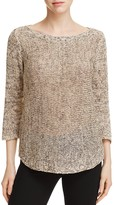 Eileen Fisher Boat Neck Tunic Sweater