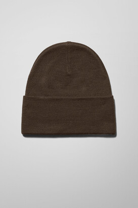 Weekday Icon High Top Beanie - Green