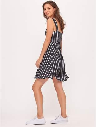 M&Co JDY striped skater dress