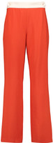 See by Chloe Two-tone crepe straight-leg pants