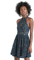 Sole Society Lace Halter Mini Dress
